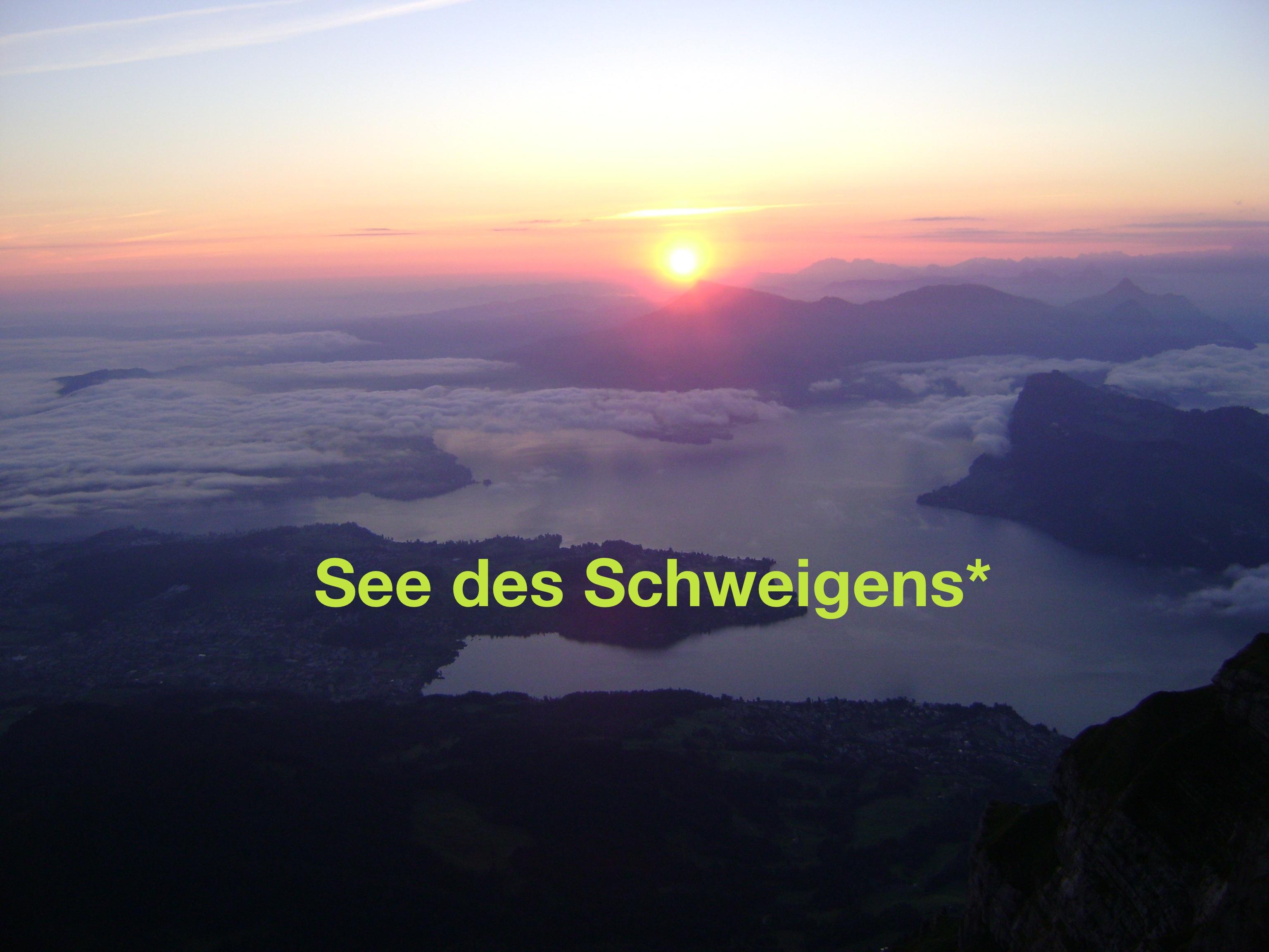 See des Schweigens